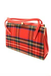 Vintage 1960s Tartan Kelly Handbag