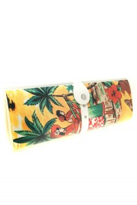 Vintage Hawaiian Print Clutch