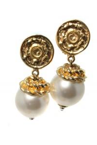 Vintage Clip On Pearl Earrings