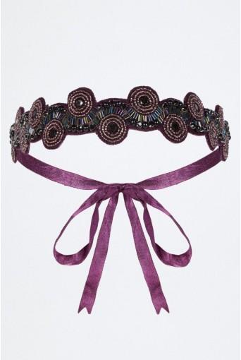 Plum Flapper Headband