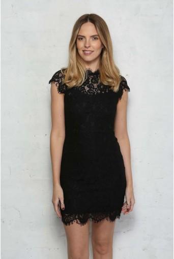 Black Lace Wiggle Dress