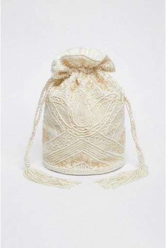 Cream Flapper Bag