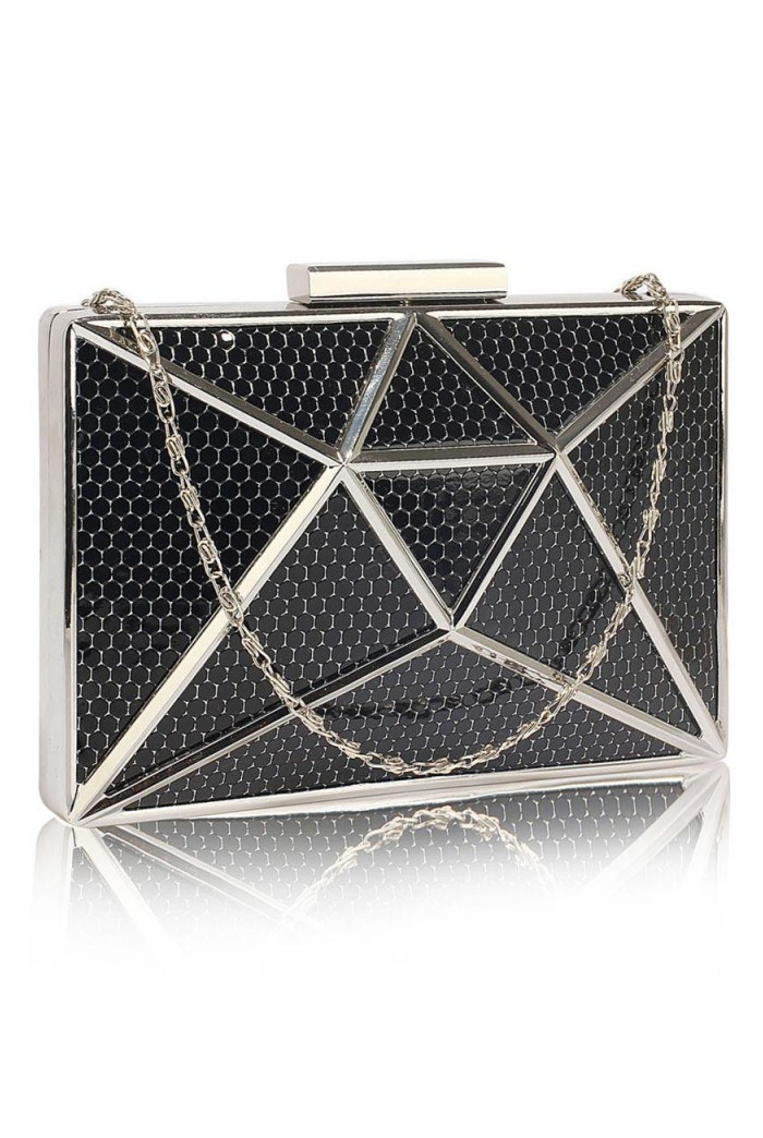 Black And Silver Deco Clutch