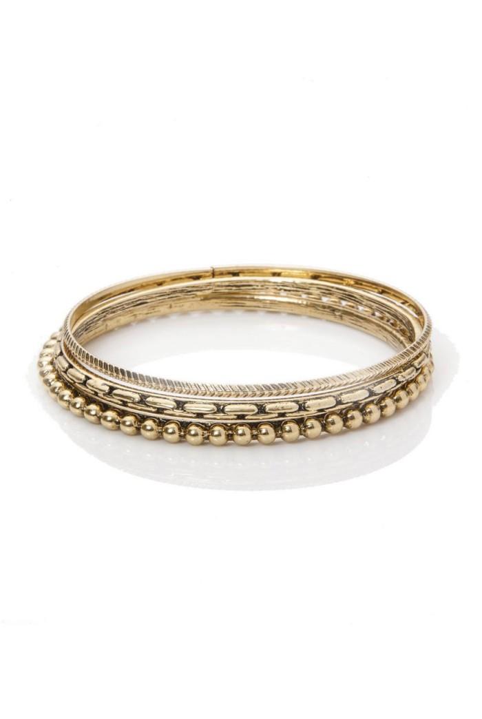 Gold Boho Bangles
