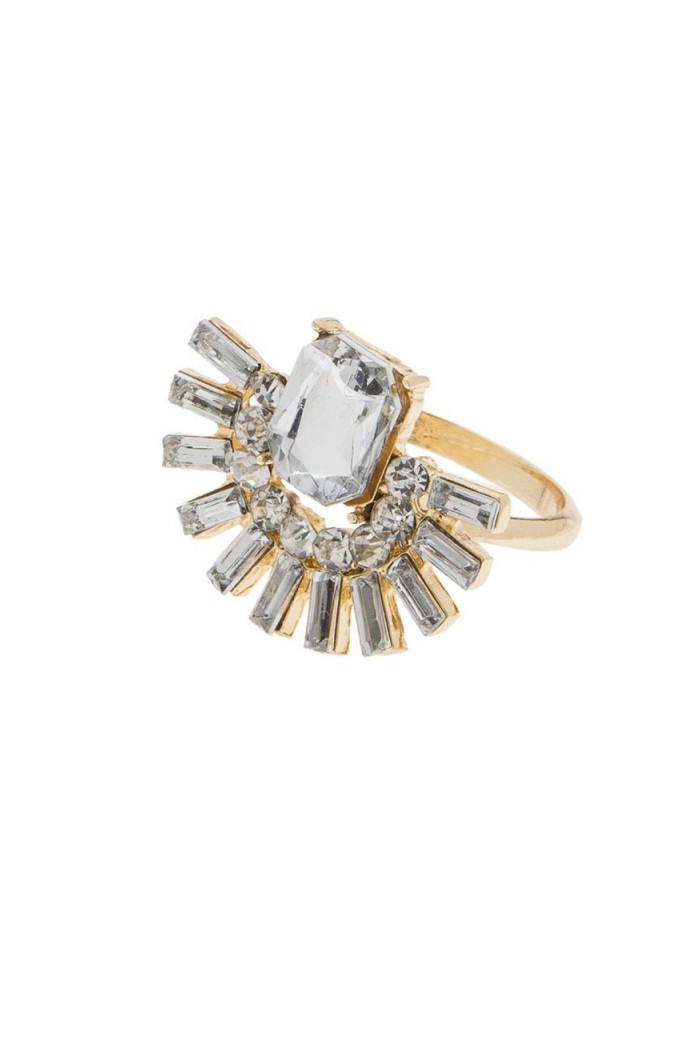Gold Deco Ring