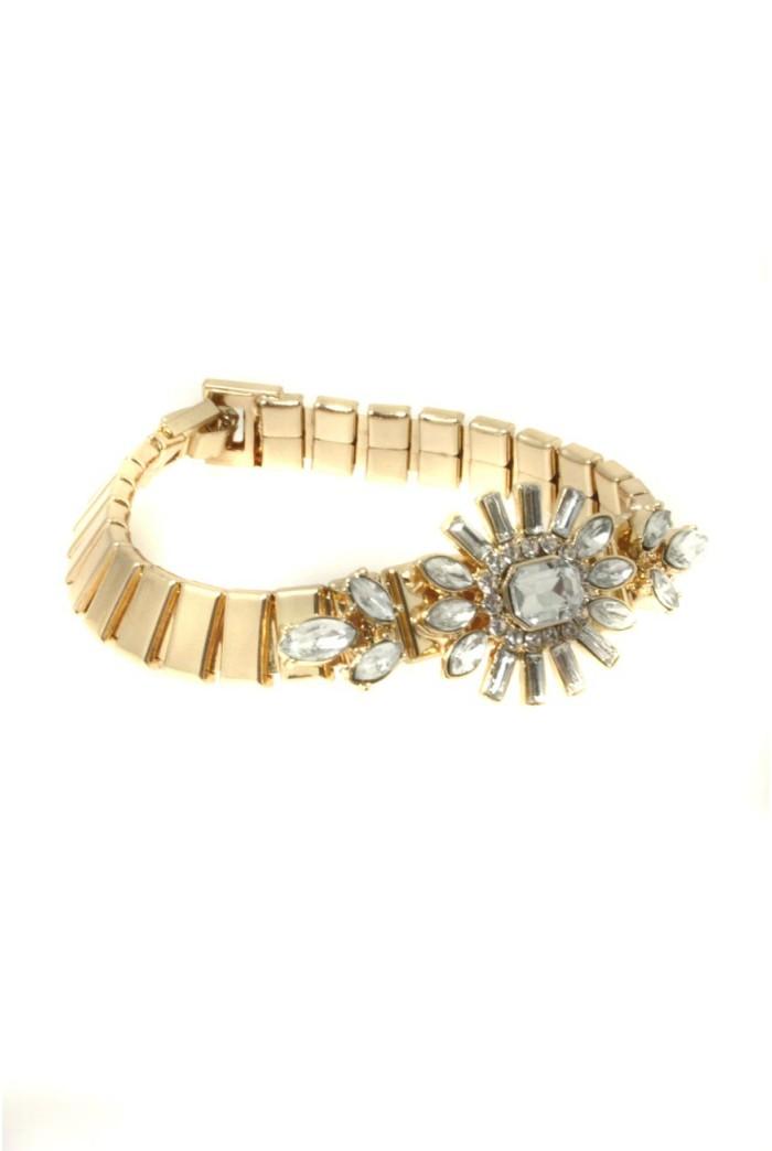 Gold Art Deco Bracelet