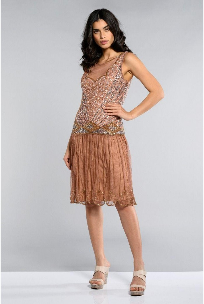 Rose Gold Flapper Dress