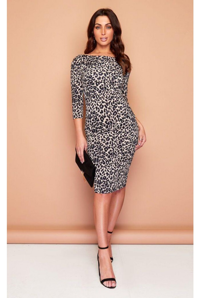 Leopard Print Wiggle Dress