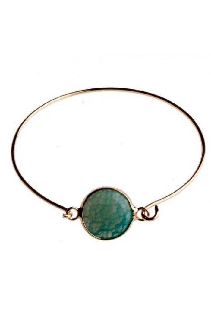 Green 1960s Circle Bracelet