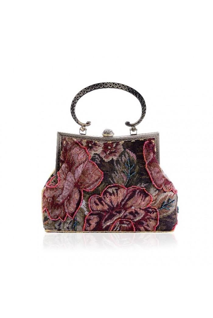 Felt Floral Tapestry Bag