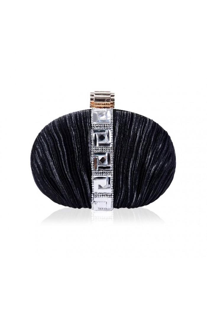 Black Art Deco Diamante Clutch