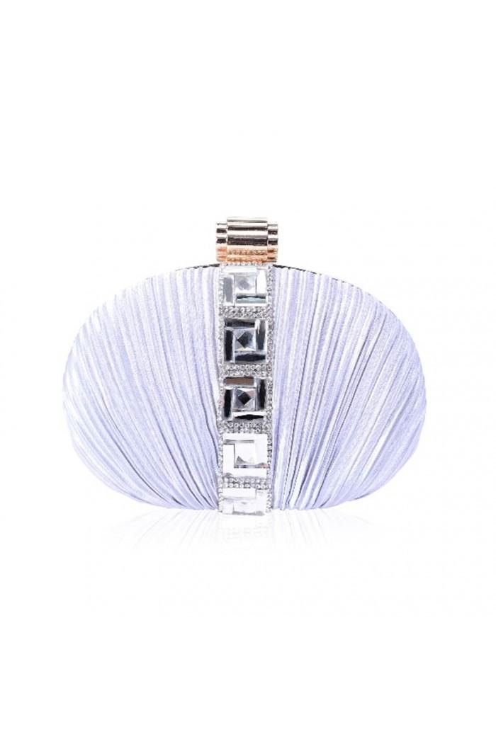 Silver Art Deco Diamante Clutch