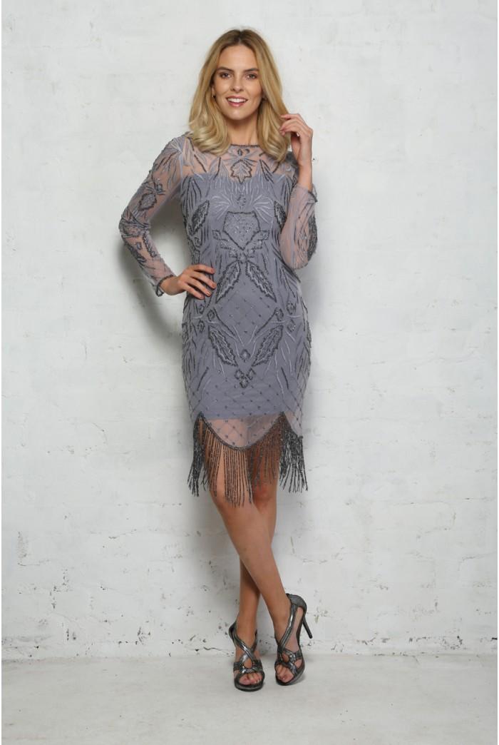 Grey Tassel Dress