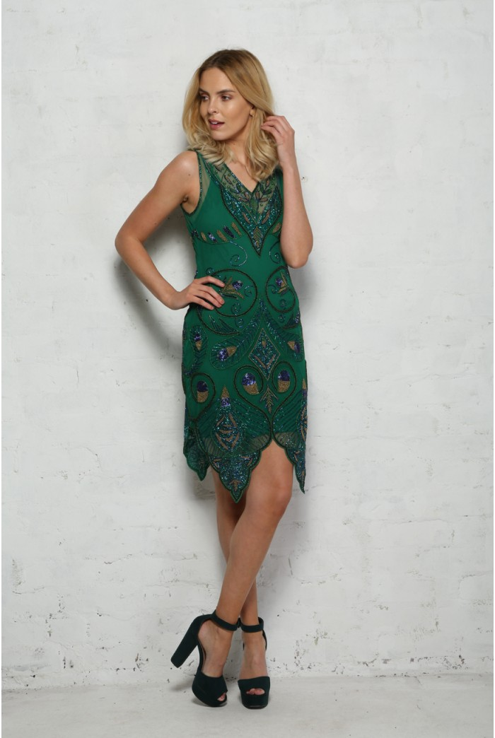 Peacock Flapper Dress