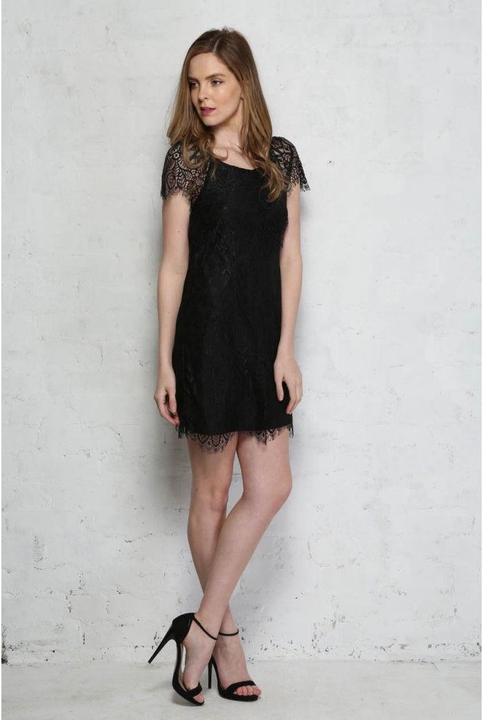 Floral Lace Flapper Dress