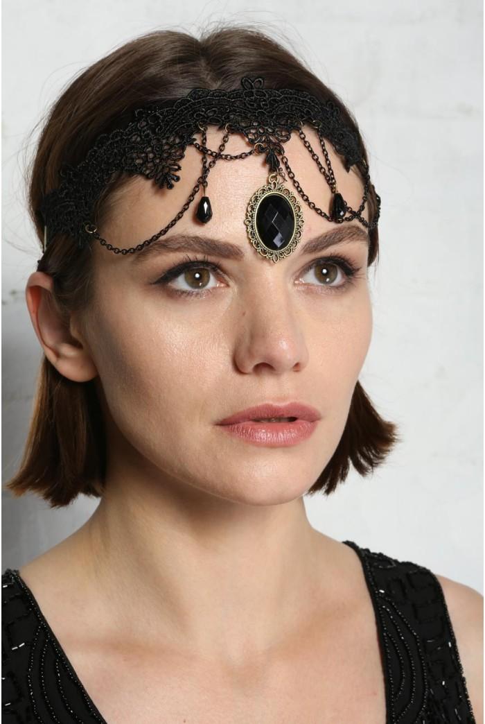 Lace Pendant Headband