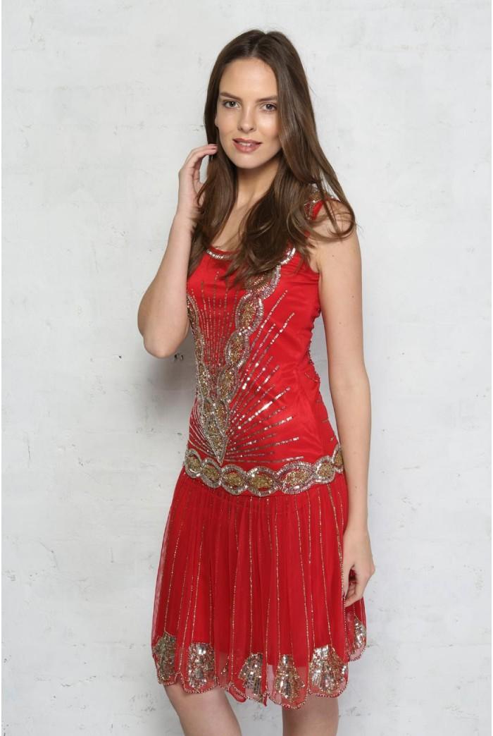 Frock Amp Frill Red Zelda Dress Bright Flapper Dress