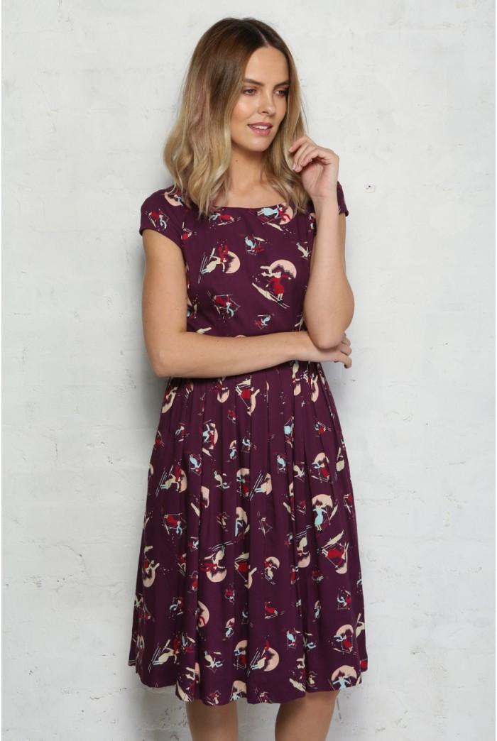 Ski Print Tea Dress - Emily & Fin
