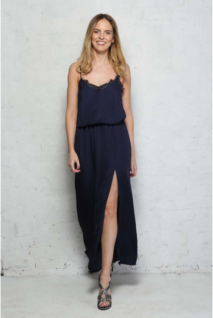Navy Slip Maxi Dress