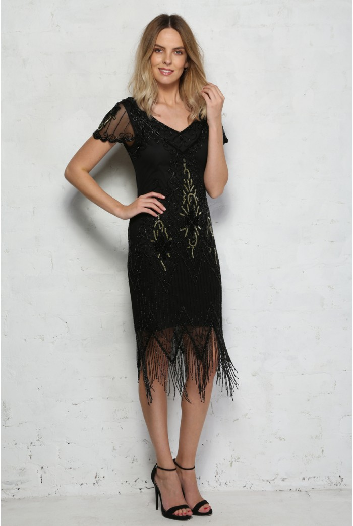 Short Sleeved Flapper Dress