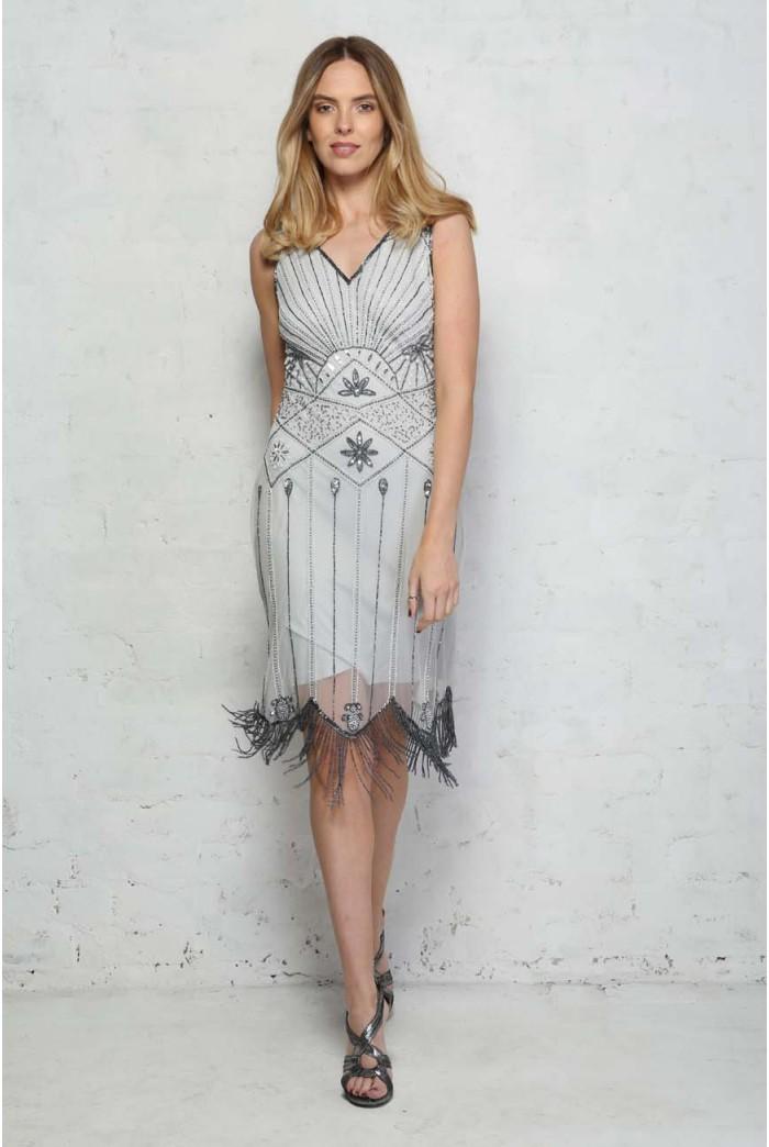 Silver Gatsby Dress