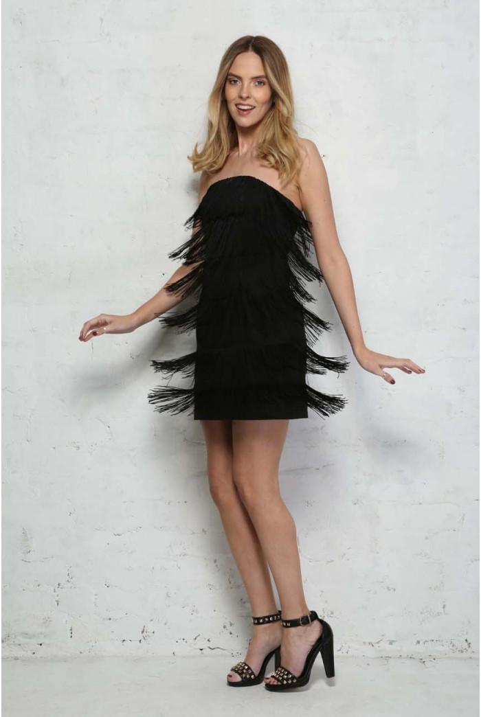 Strapless Flapper Dress
