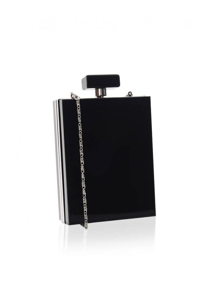 Perfume Bottle Handbag - Black