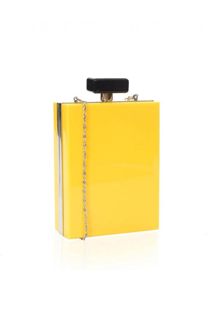 Yellow Perfume Bottle Clutch