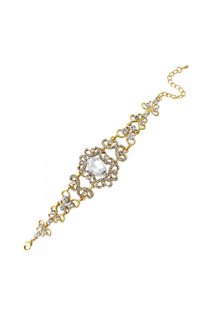 Vintage Gold Crystal Bracelet
