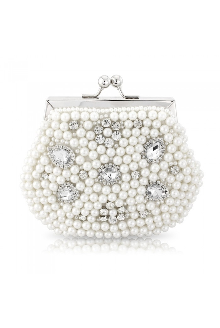 White Pearl Clutch