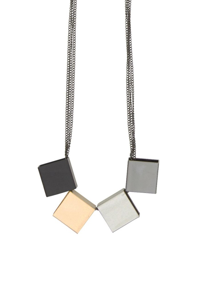 Geo Cube Necklace