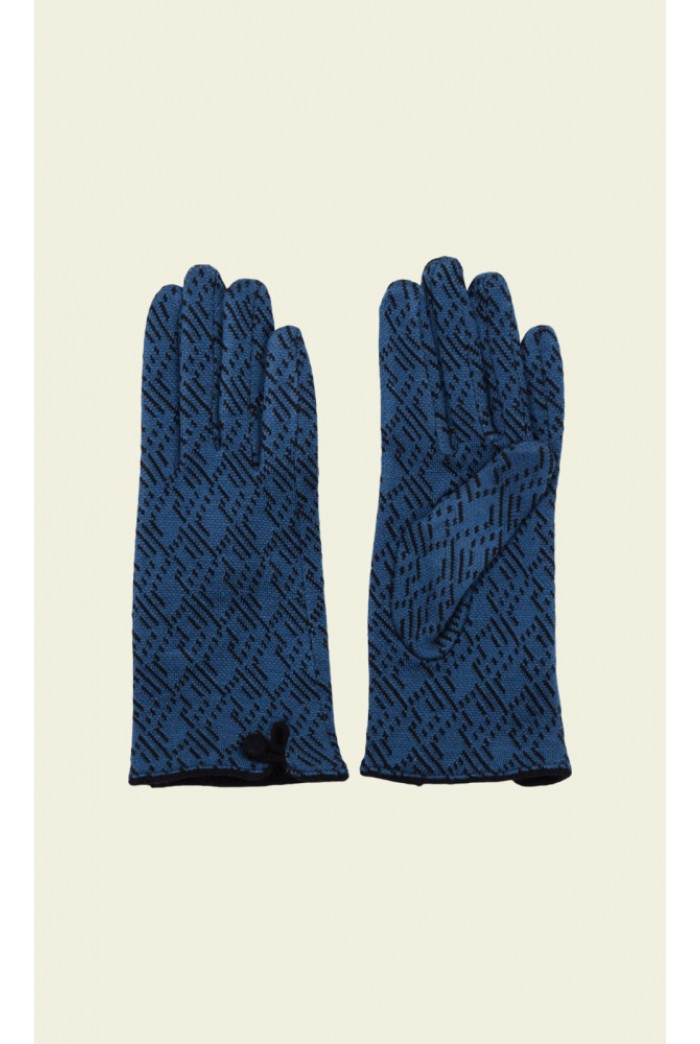 Vintage Style Blue Gloves