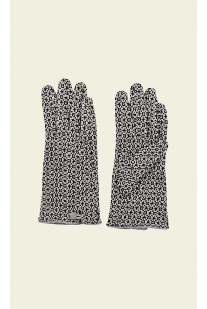 Black and White Printed Gloves