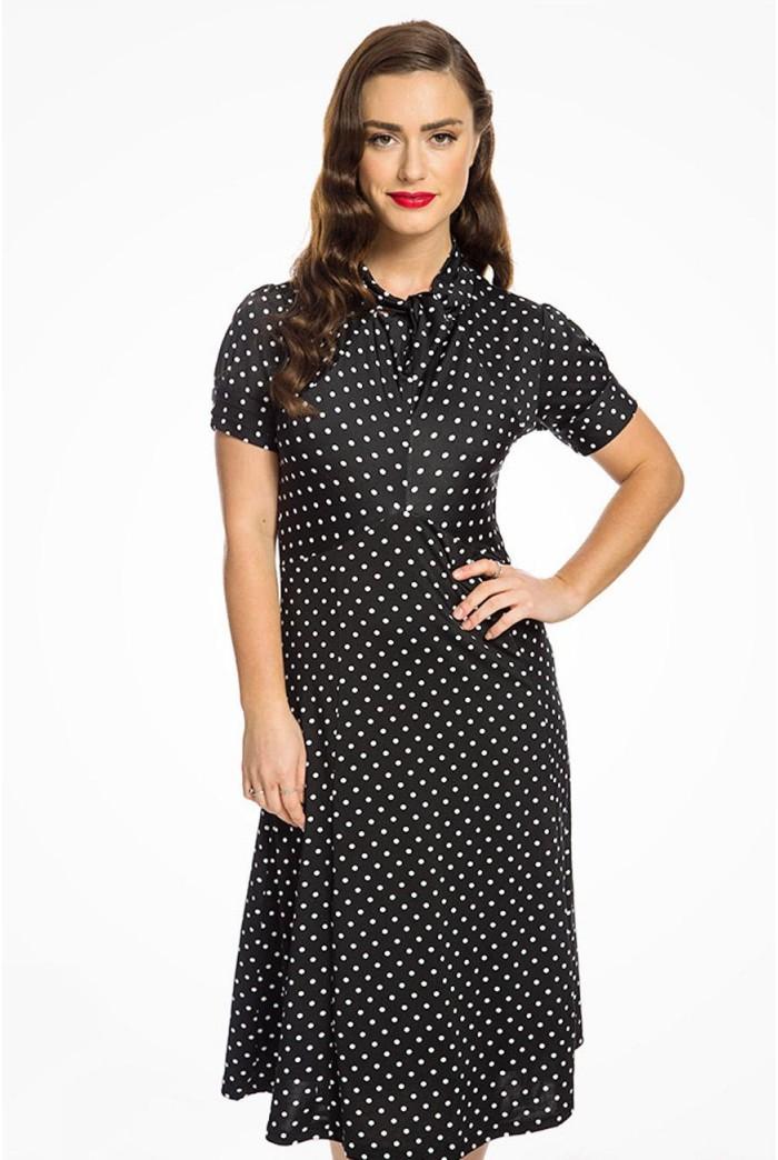 Black Polka Dot Tea Dress