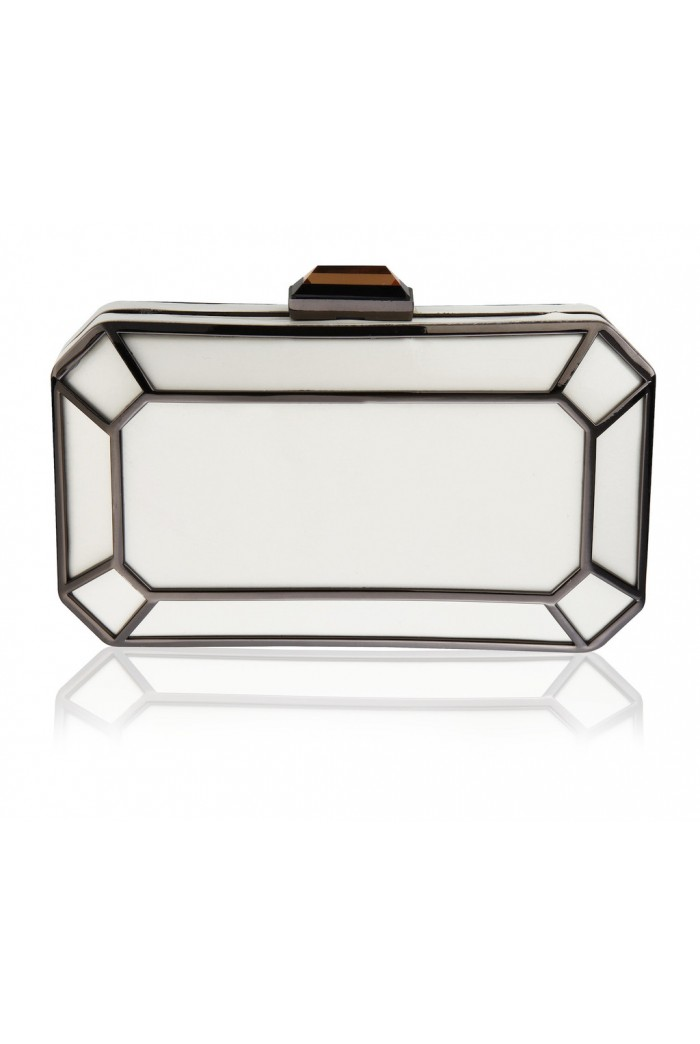 Ivory Art Deco Clutch Bag