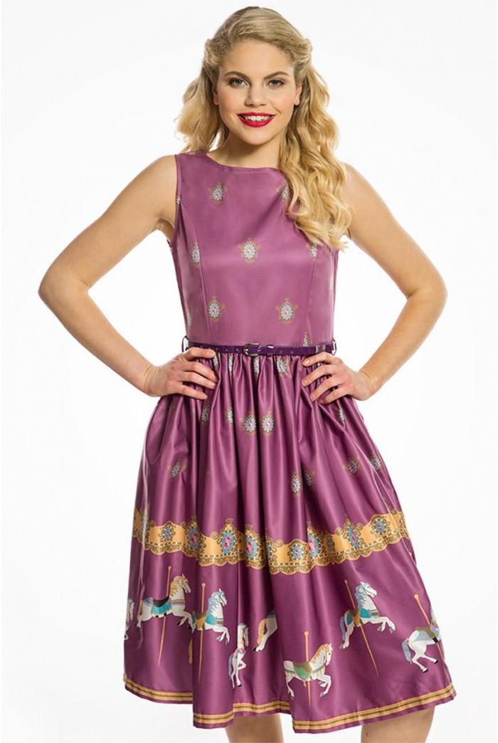 Carousel Print Prom Dress