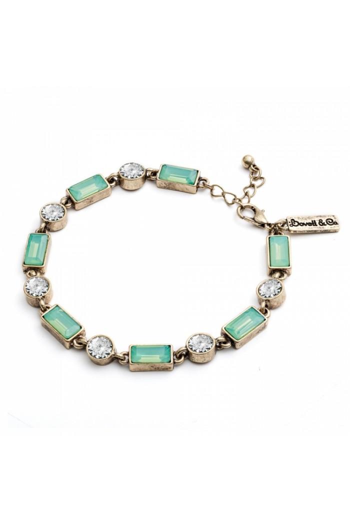 Green Art Deco Bracelet