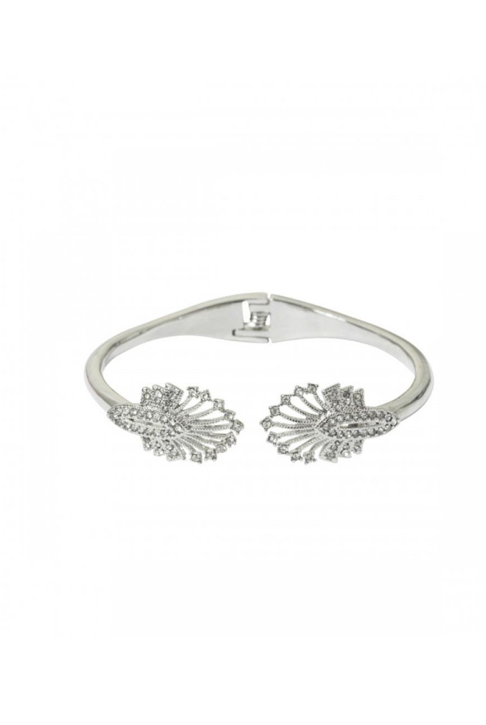 Silver Deco Fan Bracelet