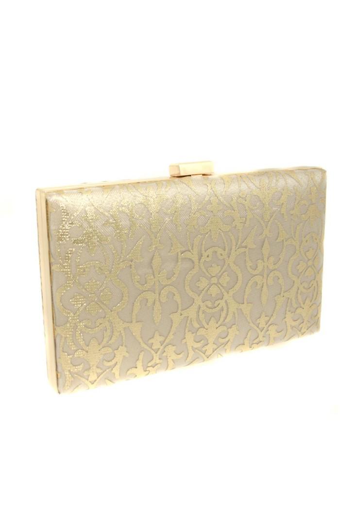 Gold Lace Clutch