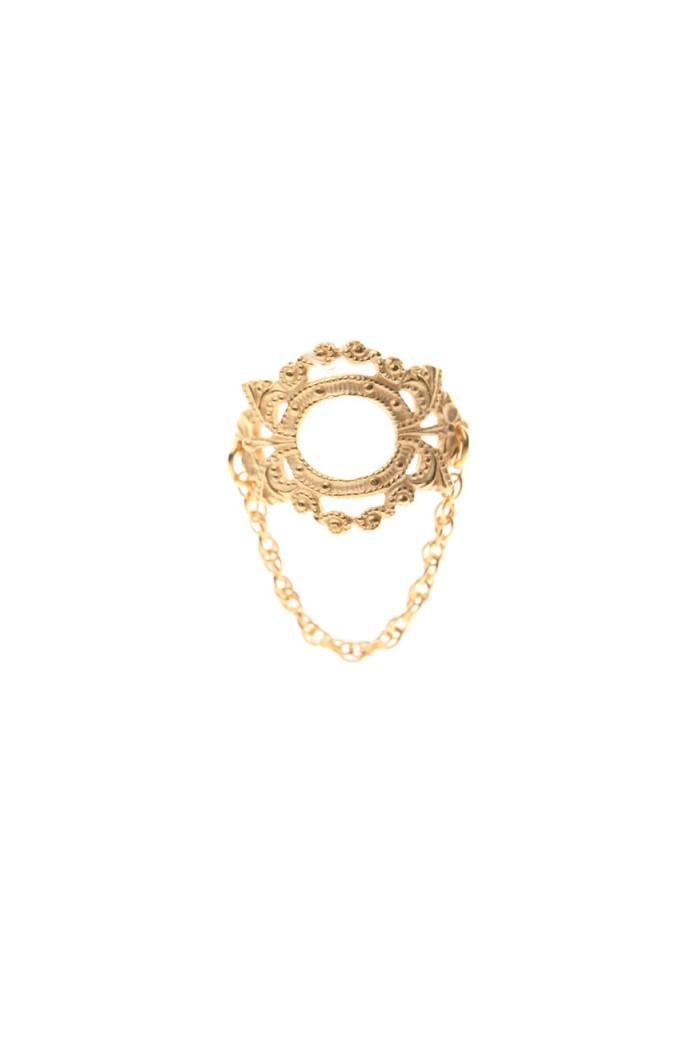Bark Gold Mirror Ring