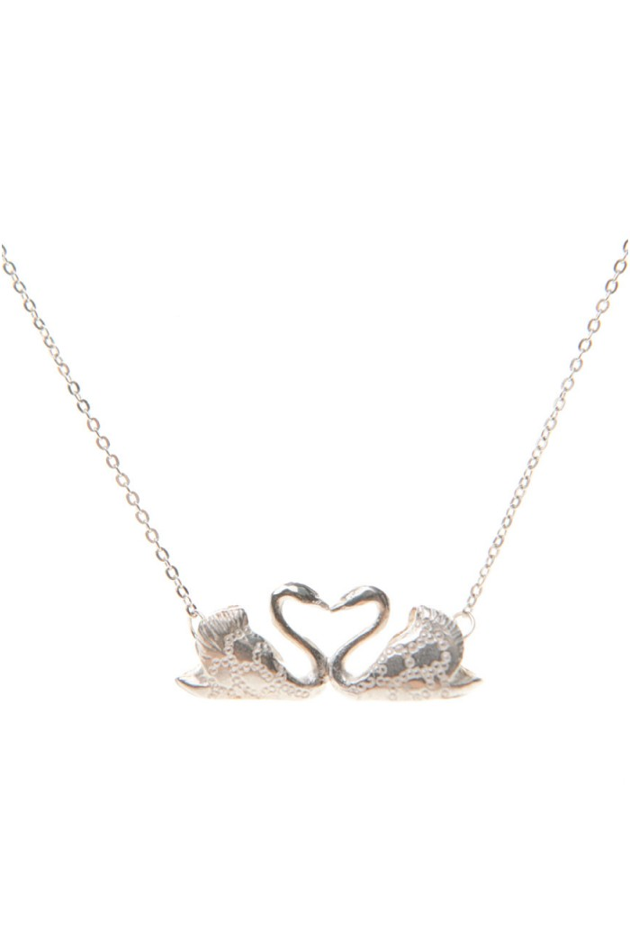 Bark Kissing Swan Necklace