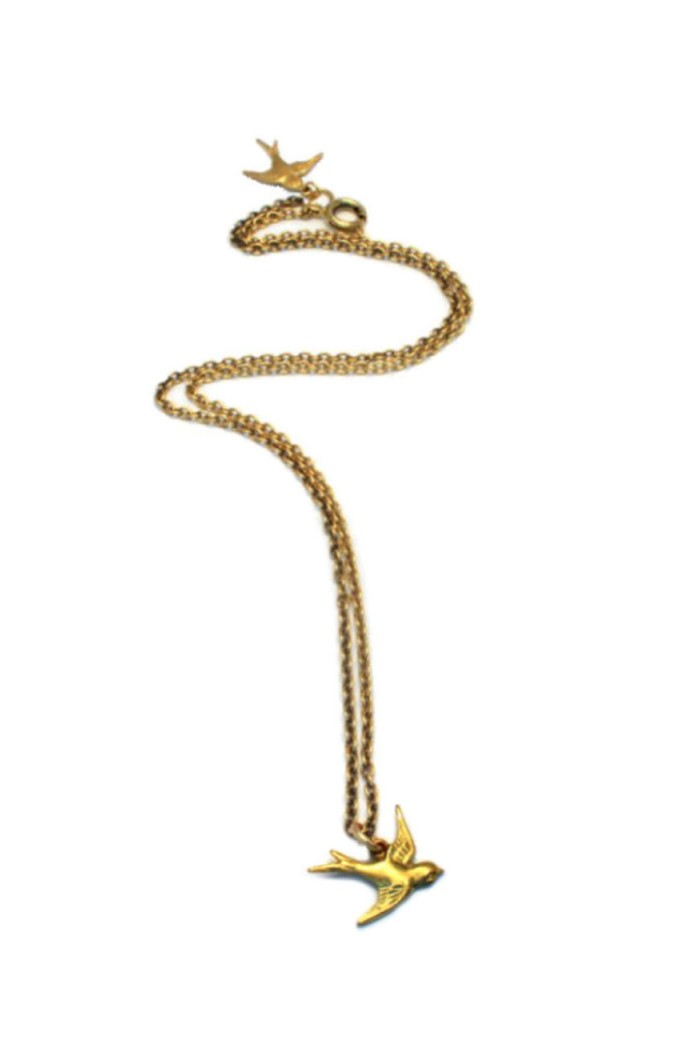 Bea Gold Swallow Necklace