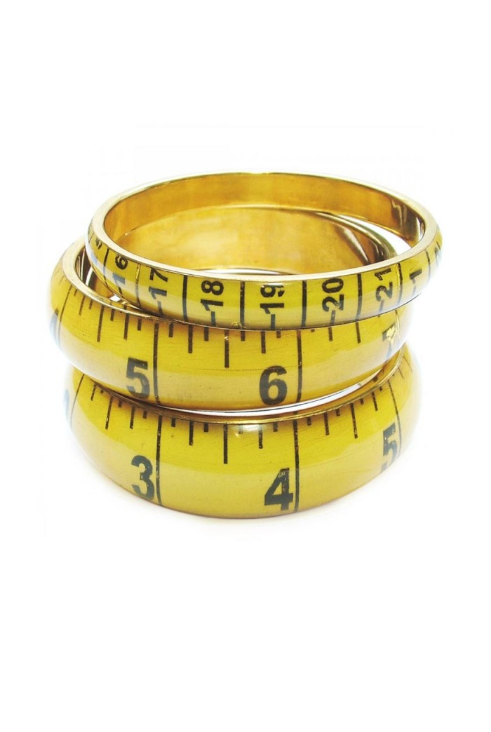 Tape Measure Bracelet Vintage Style Bangle Quirky Gifts