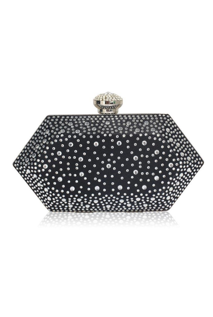 Black Crystal Art Deco Clutch