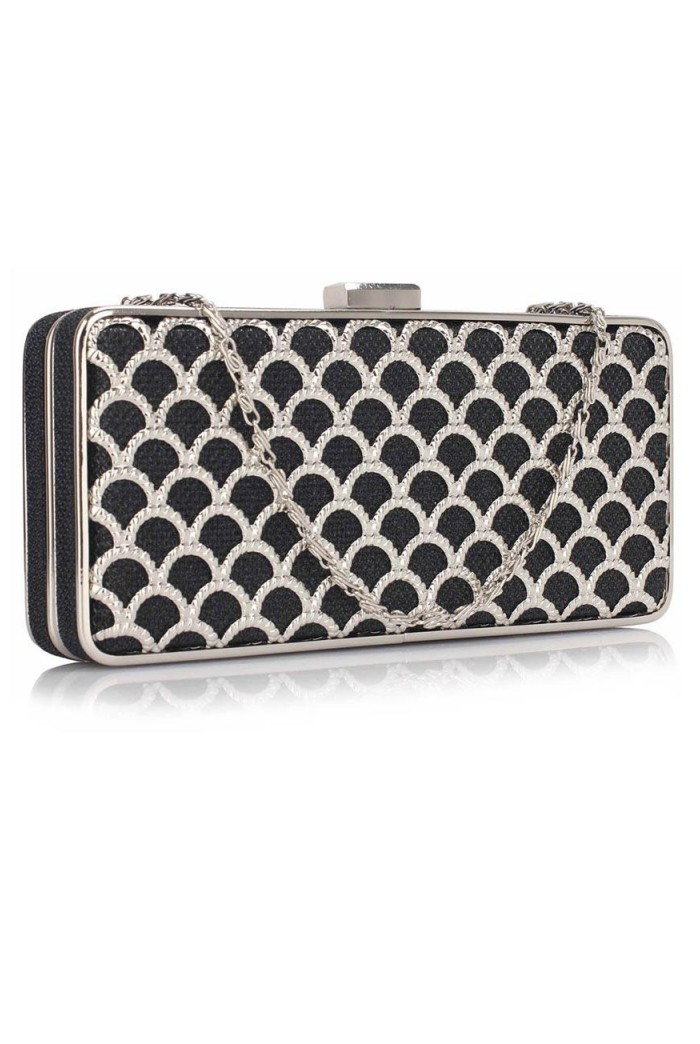 Black Scallop Clutch