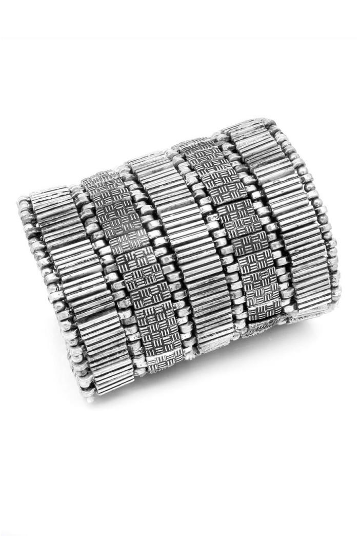 Silver Tribal Cuff