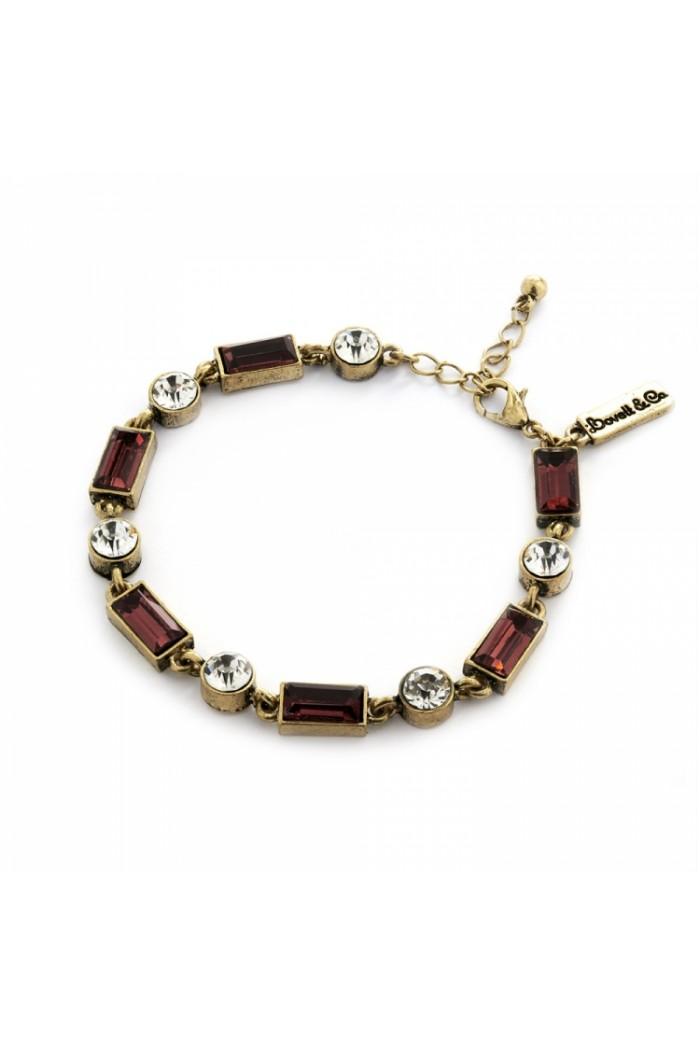 Red Art Deco Bracelet