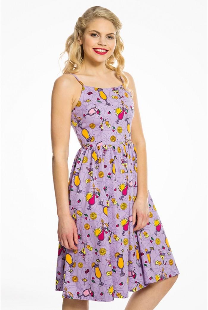 Purple Cocktail Swing Dress