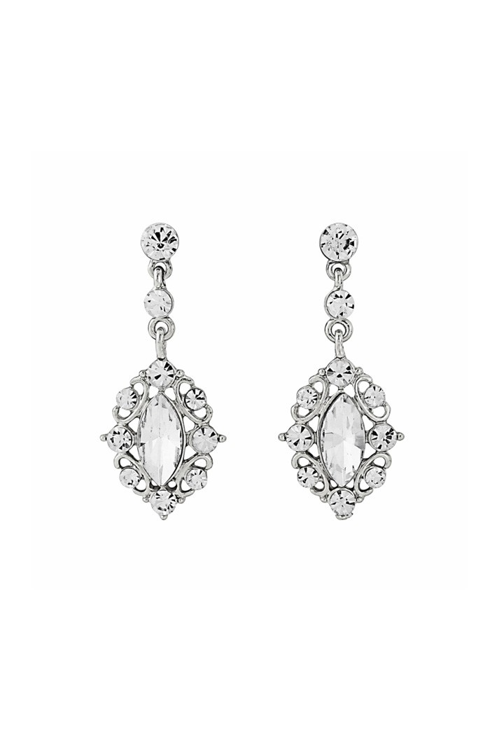 Diamante Drop Earrings