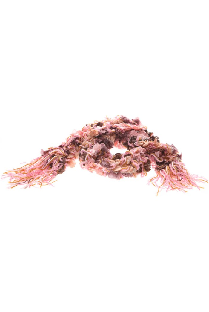 1920s Style Pink Silk Scarf